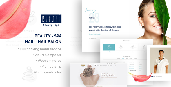 Bleute - beauty spa themes