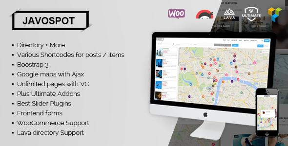 Javo Spot - WordPress directory themes