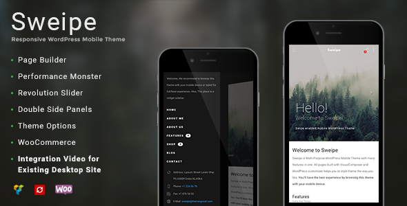 Sweipe - WordPress mobile themes