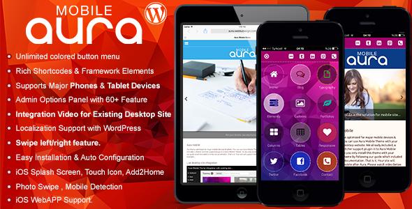 aura - WordPress mobile themes