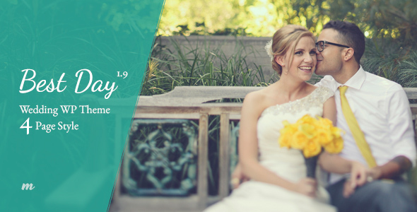 best day - WordPress wedding themes