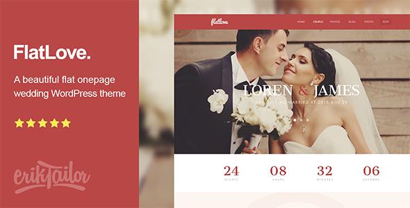 flatlove - WordPress wedding themes