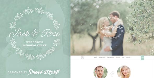 jack&rose - WordPress wedding themes