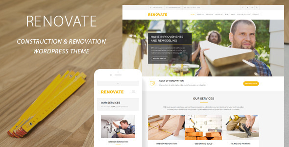 renovate - construction WordPress themes