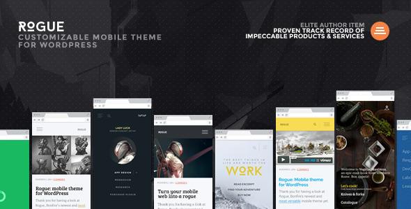 rogue - WordPress mobile themes