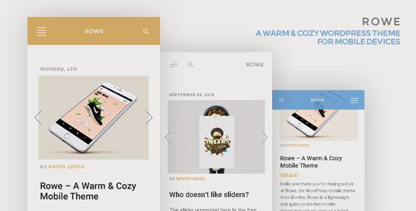 rowe - WordPress mobile themes