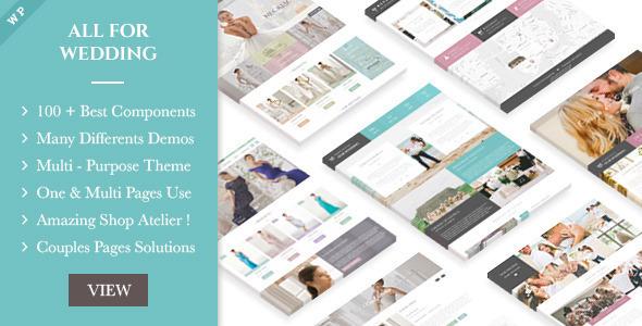 wedding industry - WordPress wedding themes