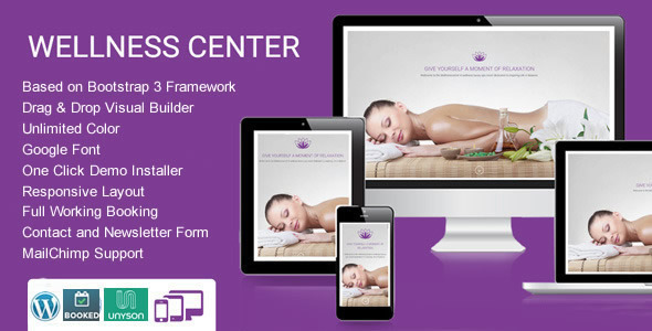 wellnesscenter - beauty spa themes