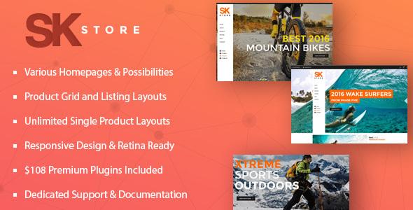 responsive store wp theme
